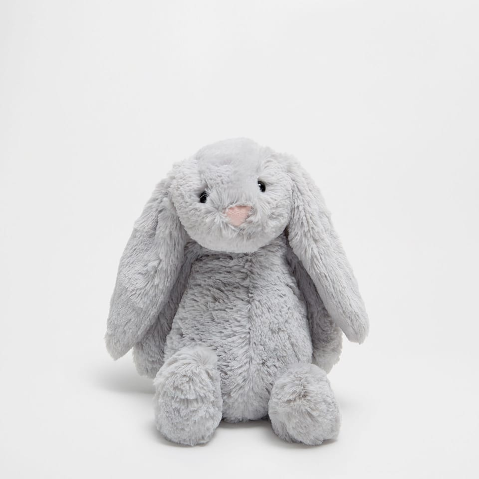 Grey bunny soft toy