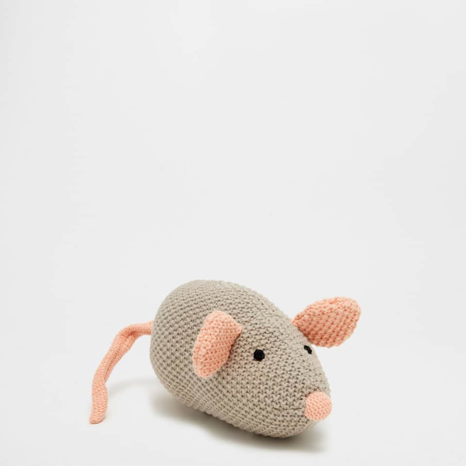 Crochet mouse rattle