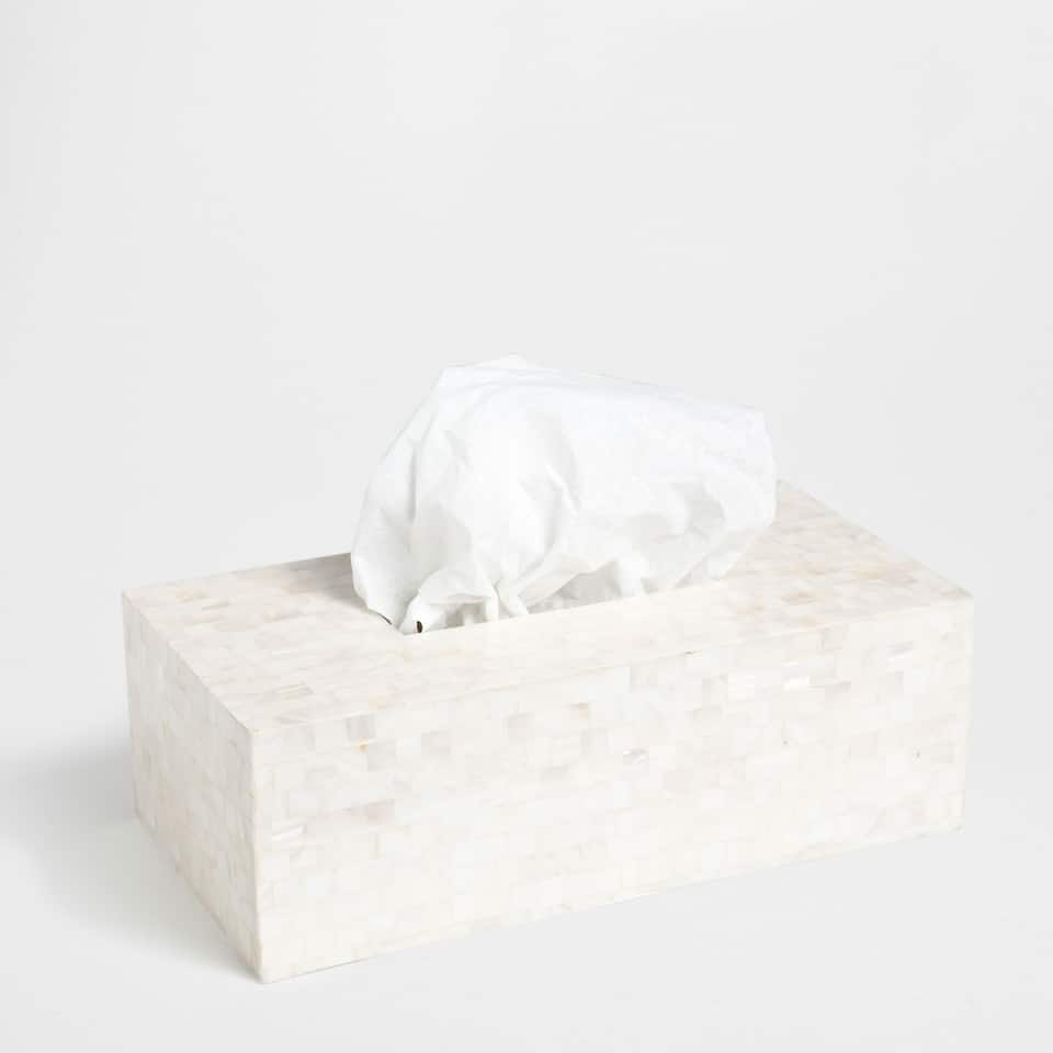 MOTHER-OF-PEARL EFFECT TISSUE BOX