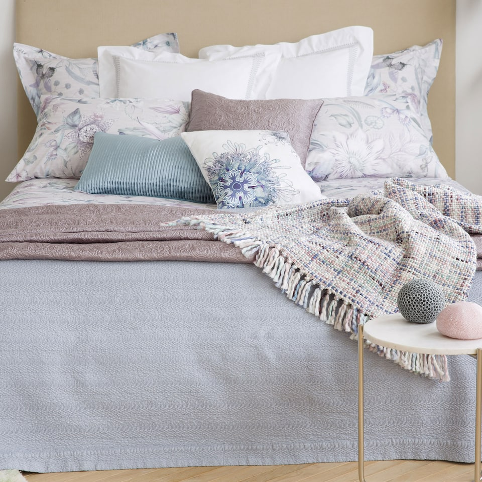 Mini herringbone cotton bedspread