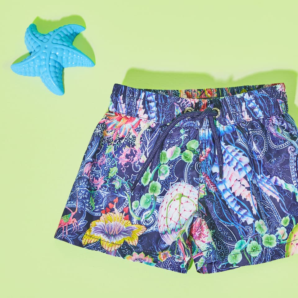 Printed swimsuit with cord