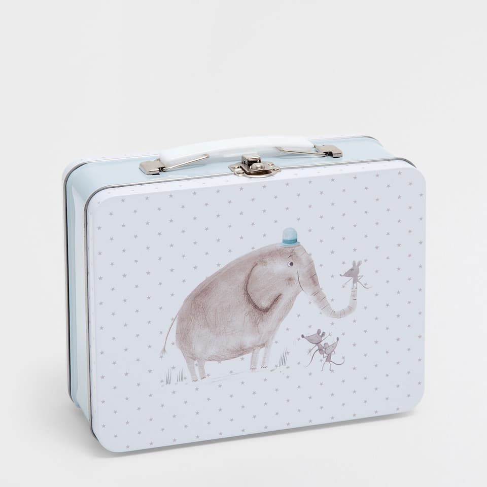 Elephants tin case