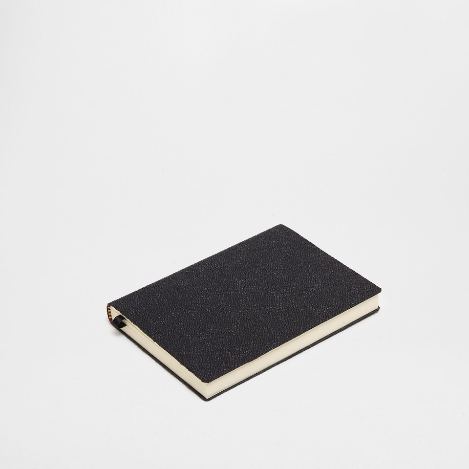 Black granulated leather notebook