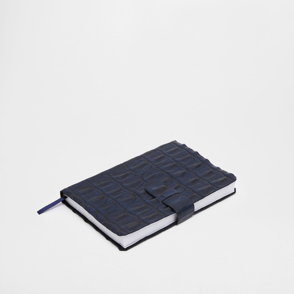 Large 2017 blue mock croc leather diary