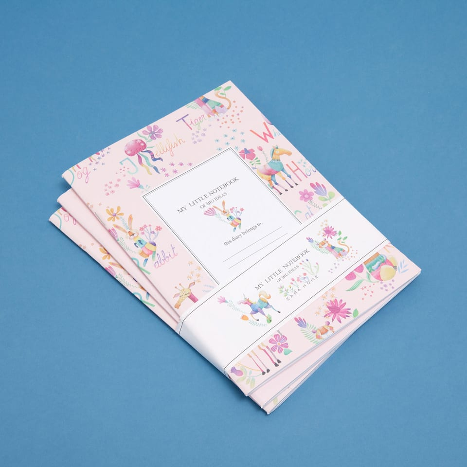 Alphabet-print notepads (set of 3)