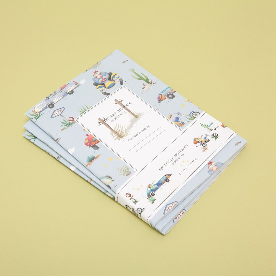 Little animals-print notepads (set of 3)