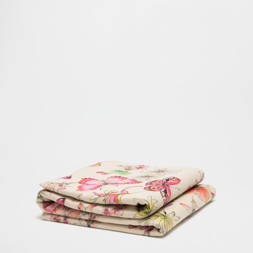 MULTICOLOURED BUTTERFLY PRINT BLANKET