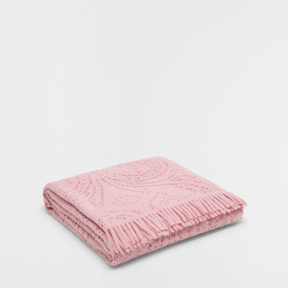 PINK CUTOUT BLANKET