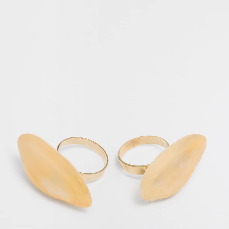Mother-of-pearl piece napkin ring (Set of 2)