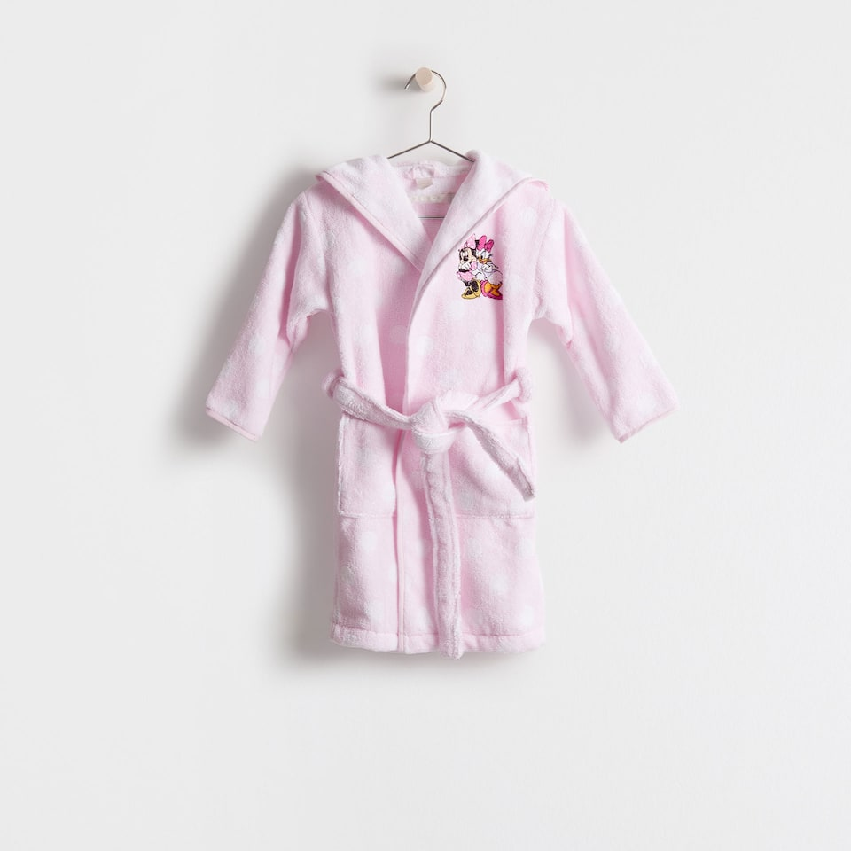 Minnie and Daisy embroidered bathrobe