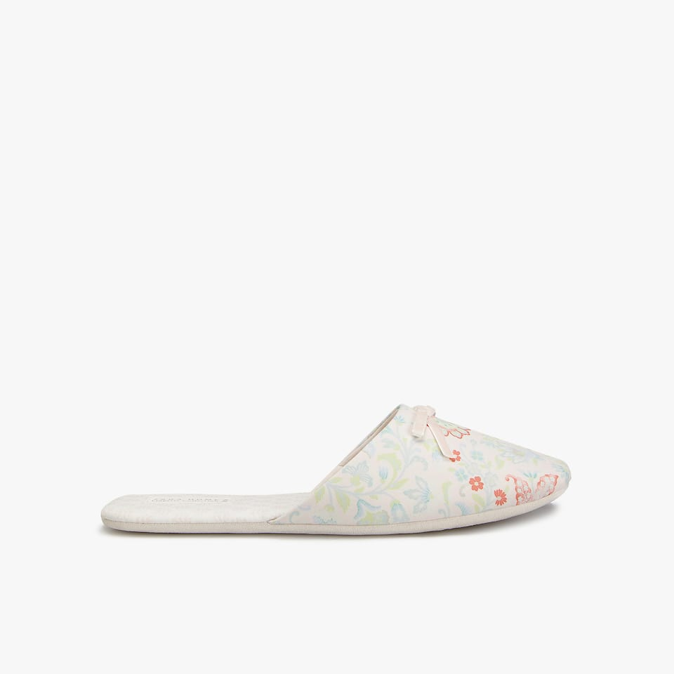 FLORAL FABRIC SLIPPERS