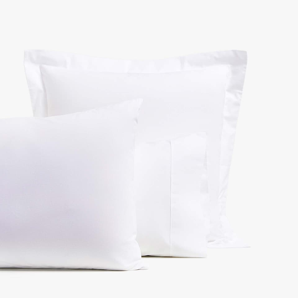 Basic white pillowcase