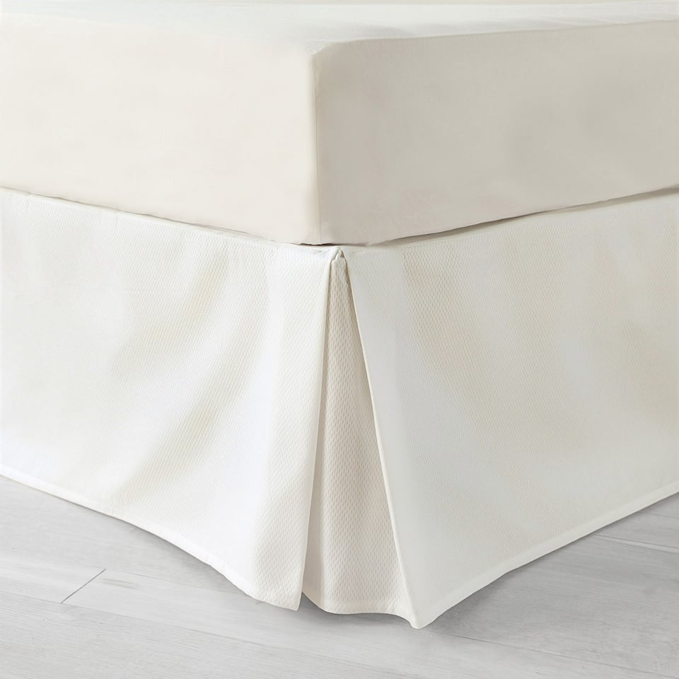 Cotton piqué valance sheet