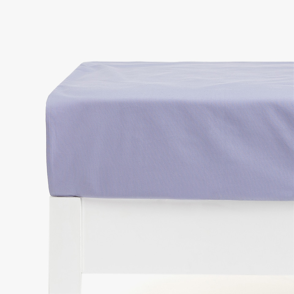 Basic Percale Bottom Sheet (mattress of up to 28 cm thick)