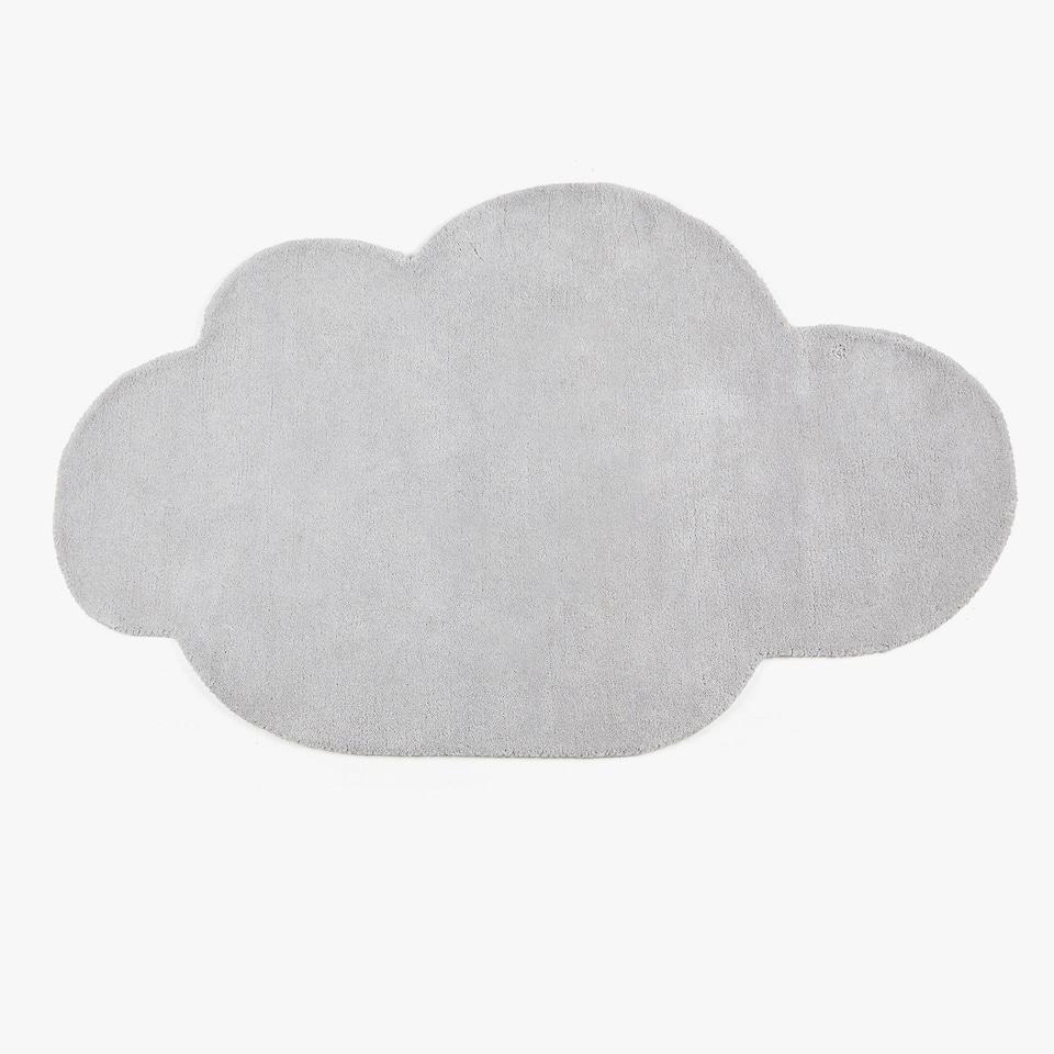 سجادة من القطن غيمة بيضاء اللون