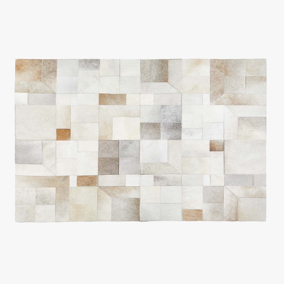 TAPIS CUIR PATCHWORK