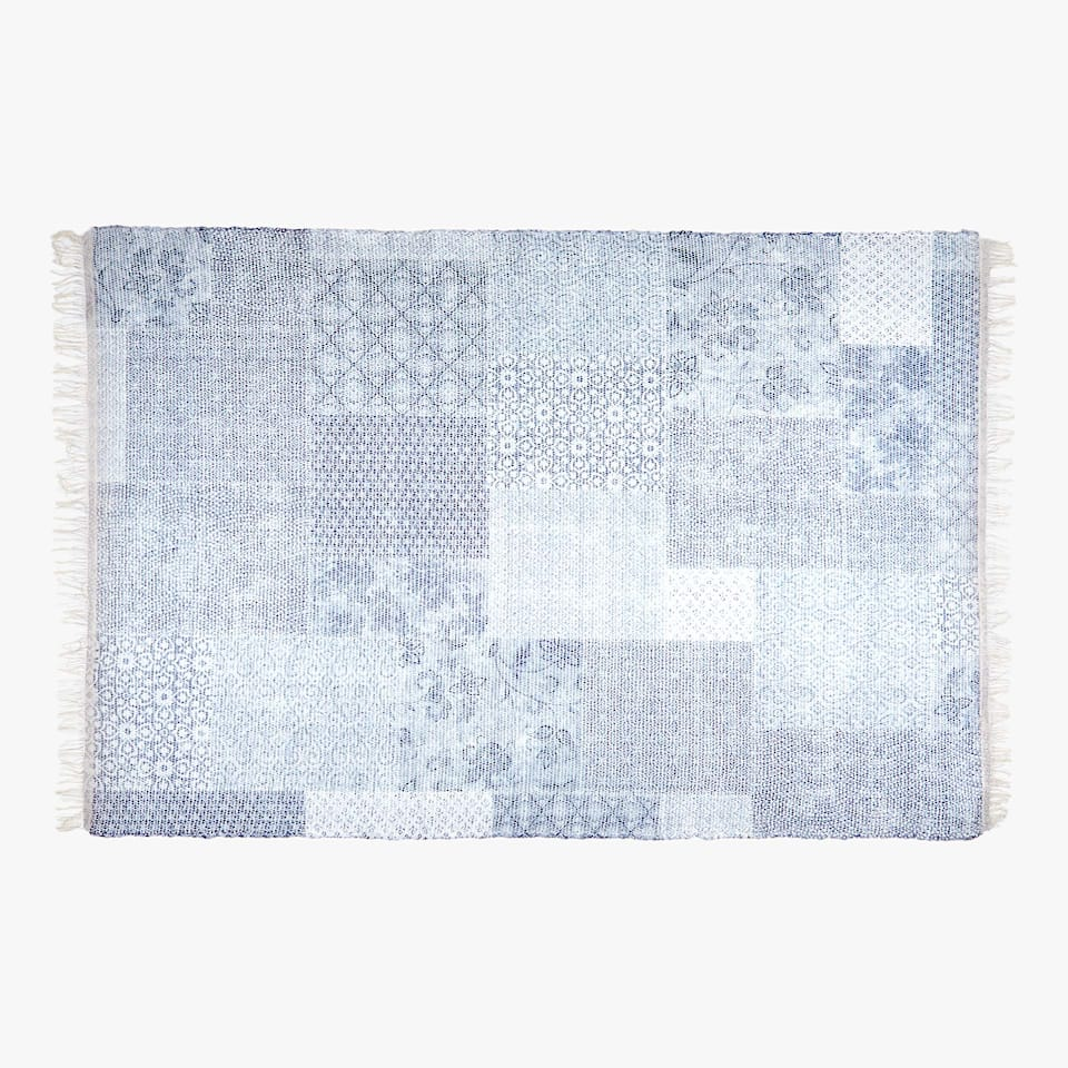 PATCHWORK-EFFECT COTTON RUG