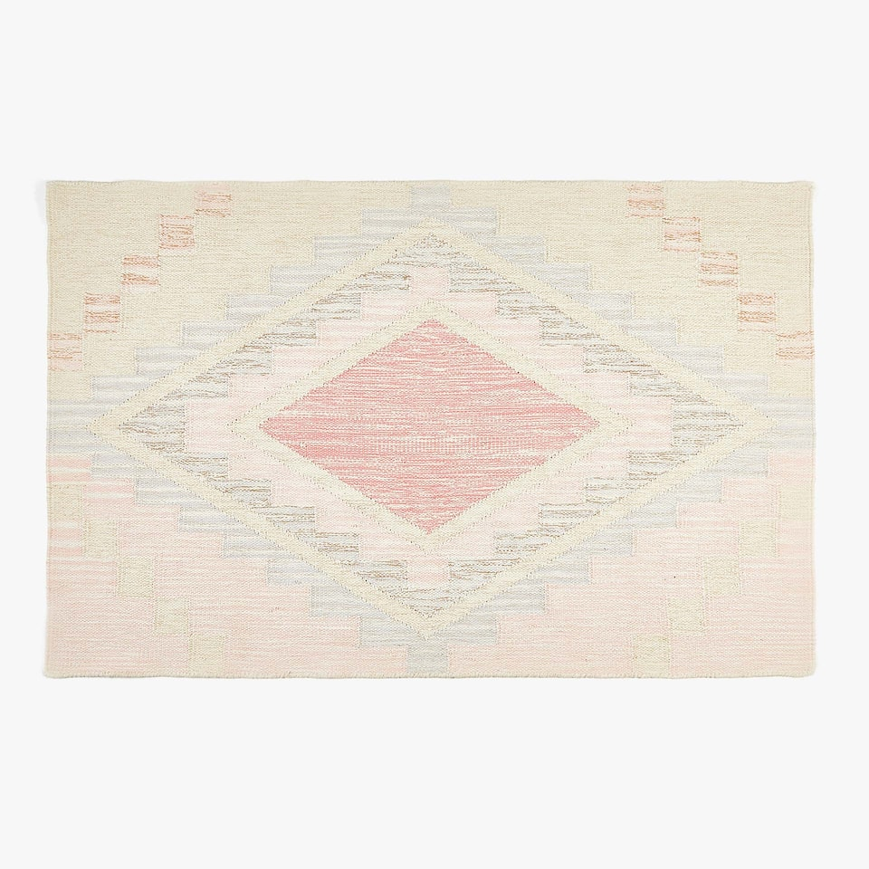MULTICOLOURED COTTON KILIM RUG