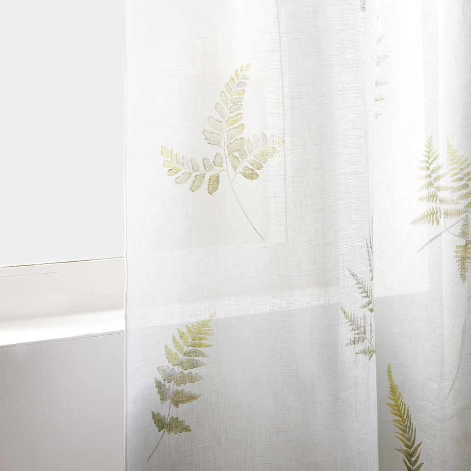 FERN PRINT LINEN CURTAIN