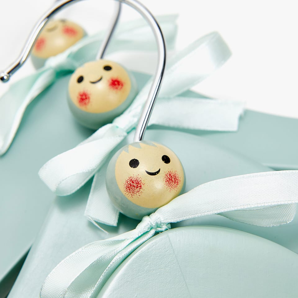 HANGER WITH LITTLE DOLL'S HEAD (SET OF 3)