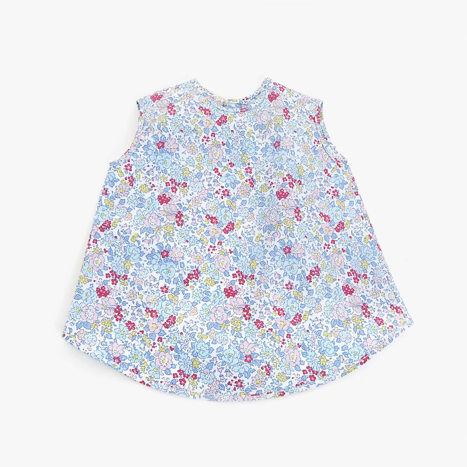 LITTLE FLOWERS PRINT LONG BIB