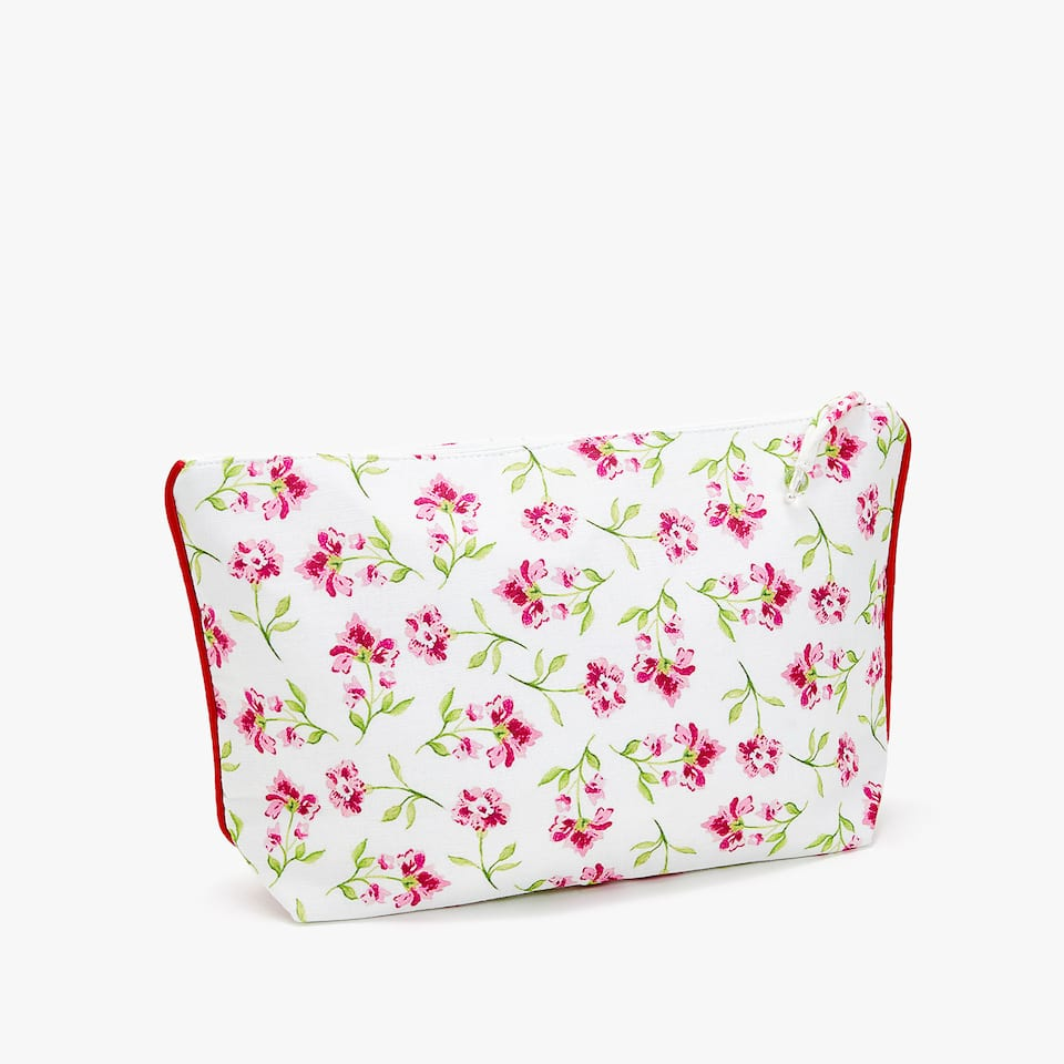FLORAL PRINT TOILETRY BAG