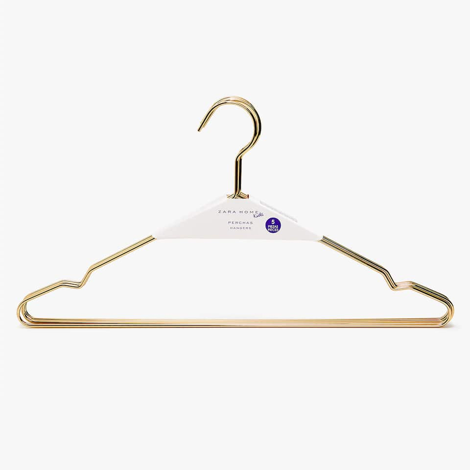 GOLDEN METAL HANGER (SET OF 3)