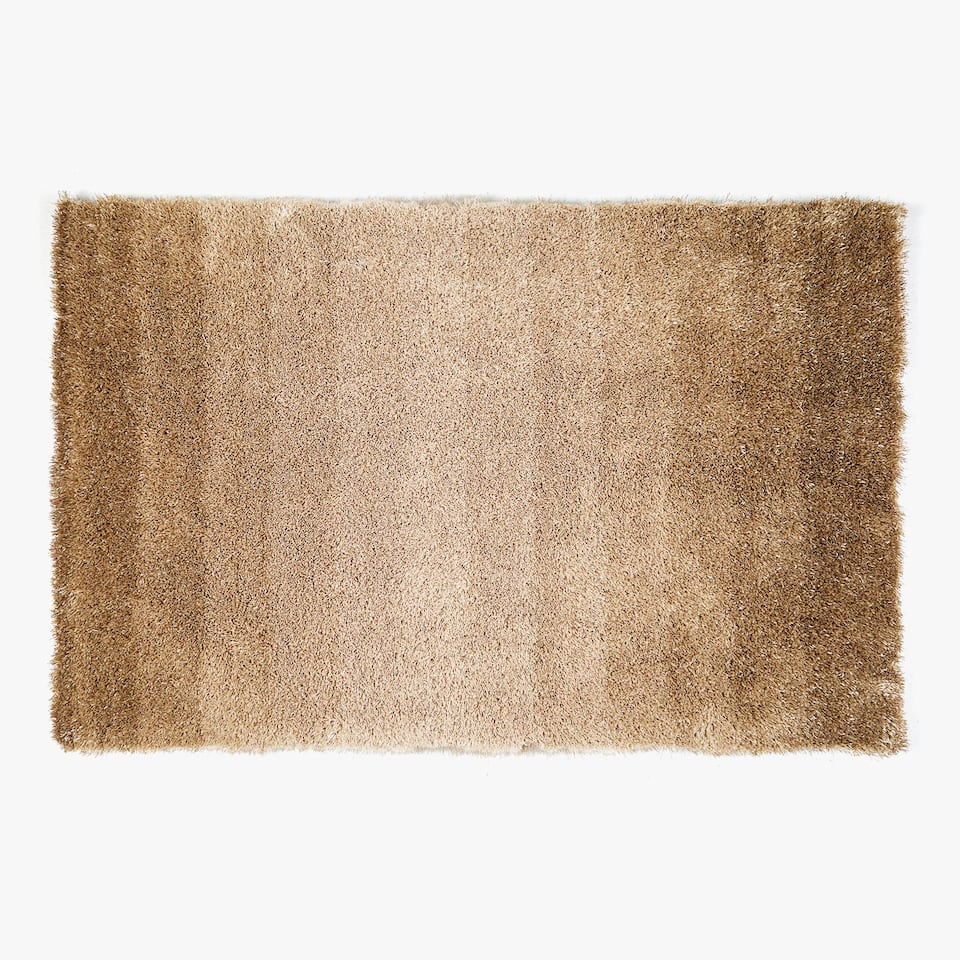 OMBRÉ-EFFECT FURRY RUG