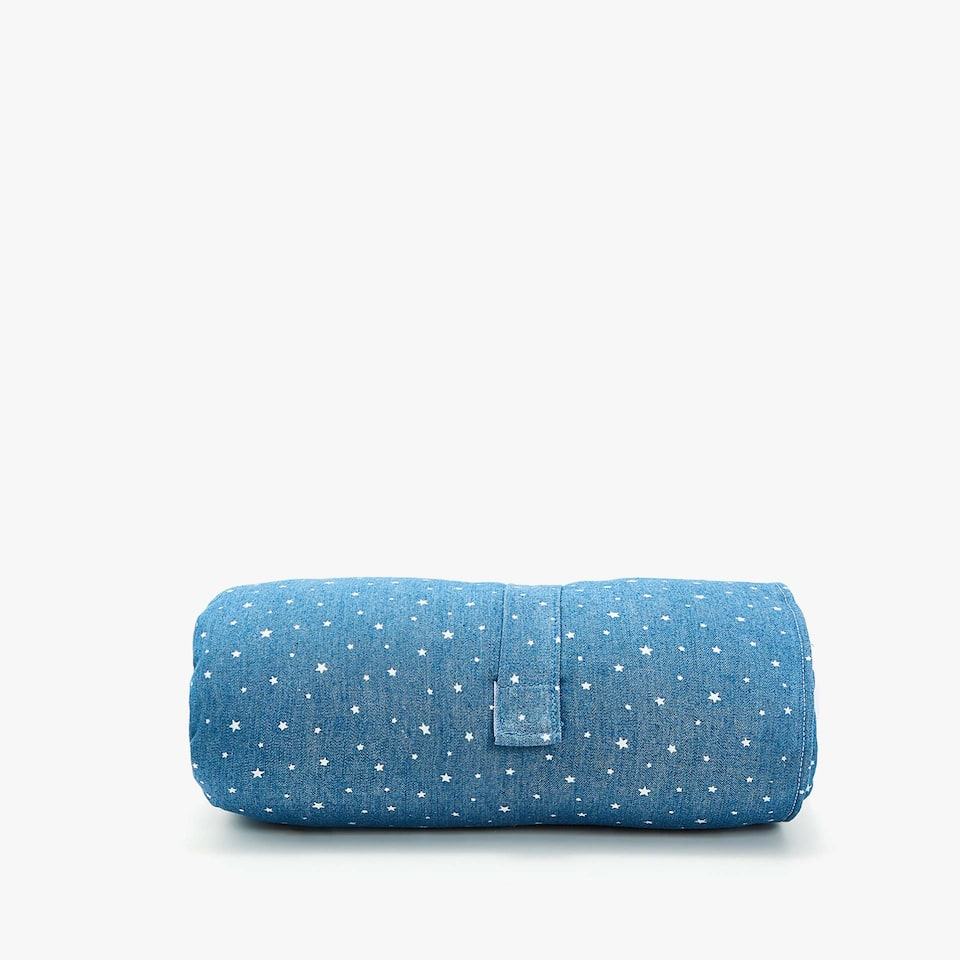 DENIM STAR PRINT COT CHANGING MAT