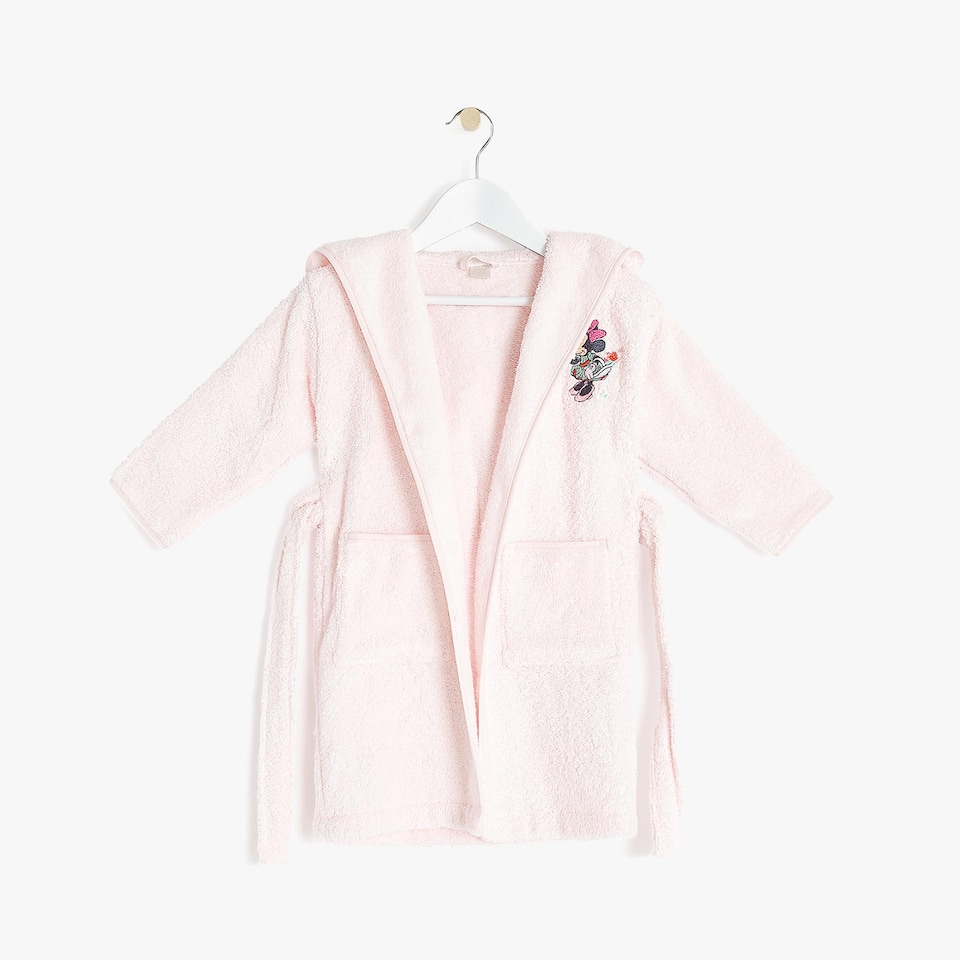 ROSE POLKA DOT BATHROBE