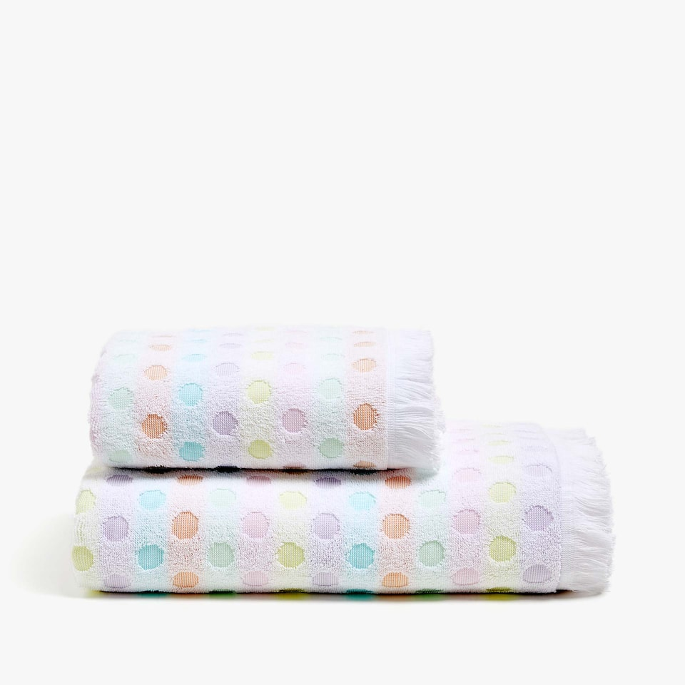 MULTICOLOURED DOTS COTTON TOWEL