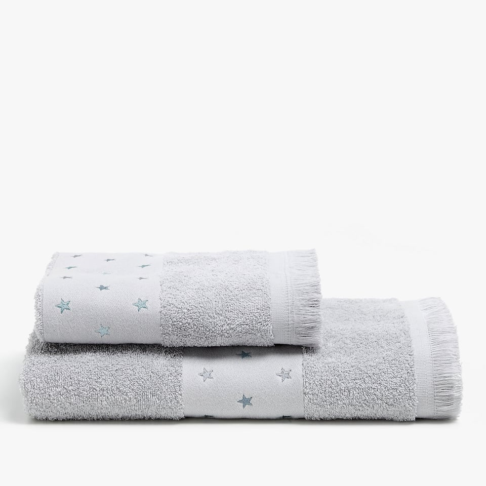 COTTON TOWEL FEATURING STRIP WITH STARS