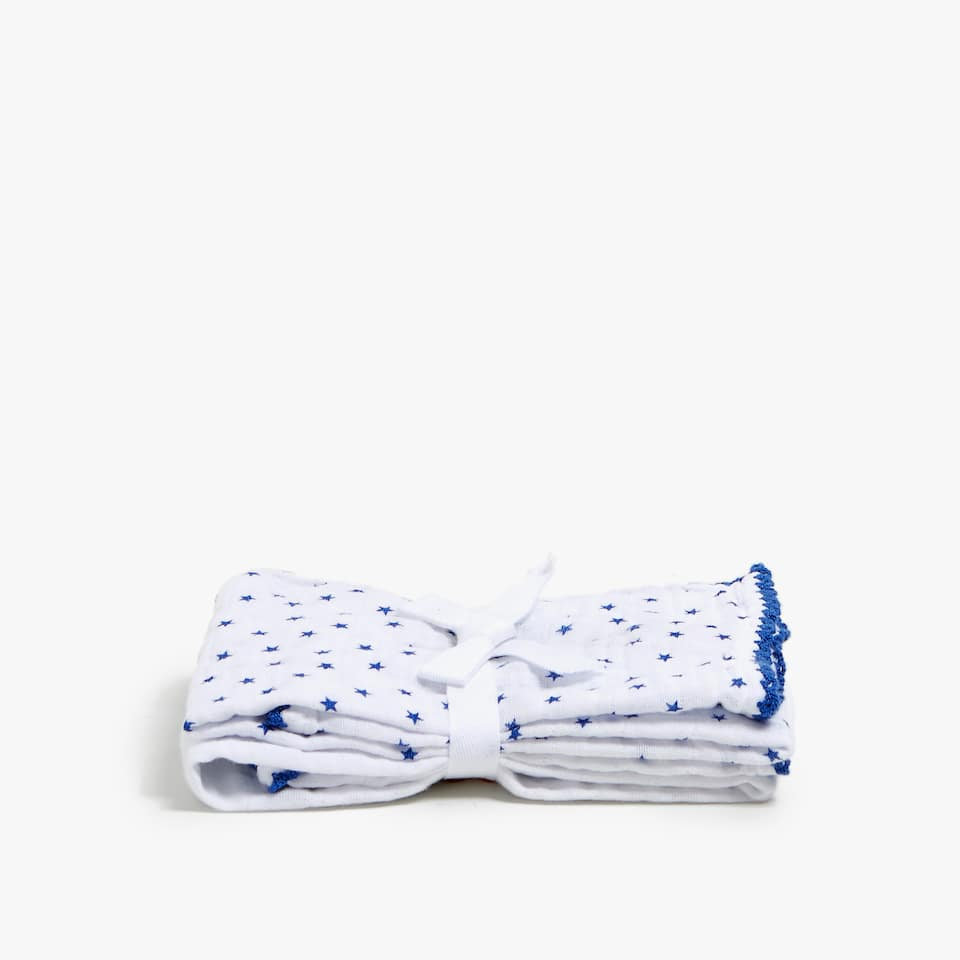 STARS PRINT BABY CLOTHS (SET OF 2)
