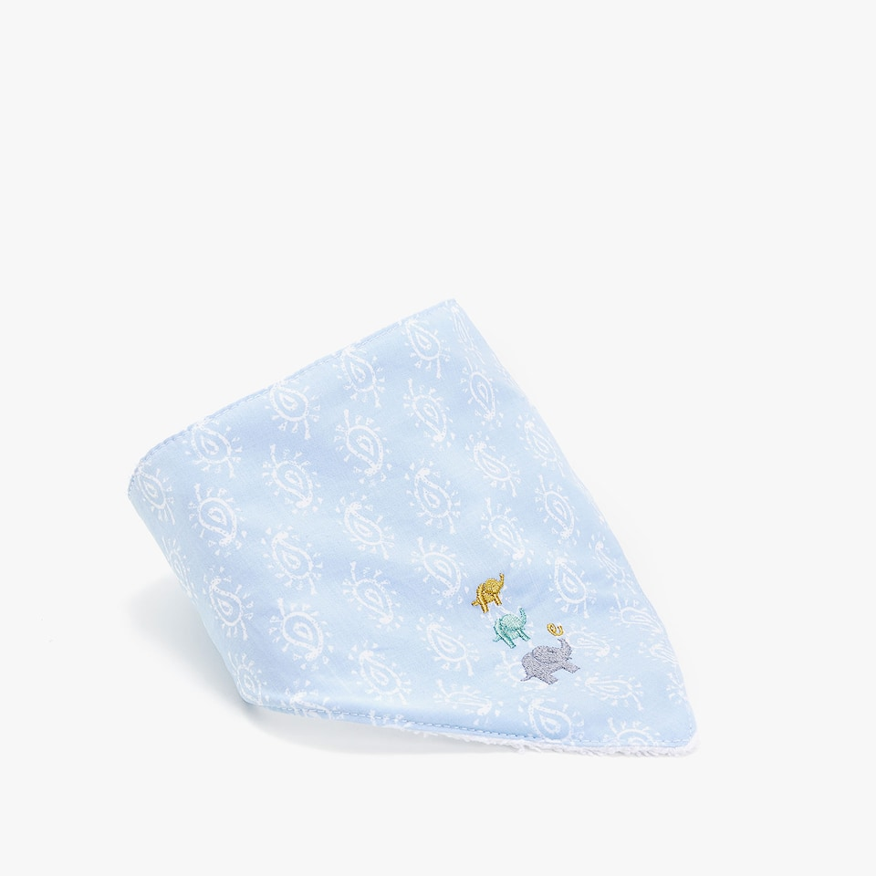 PRINTED FABRIC DOUBLE-WEAVE COTTON BIB