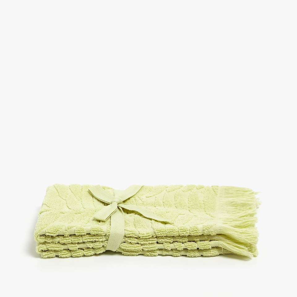 LEAF DESIGN COTTON TOWEL (SET OF 2)