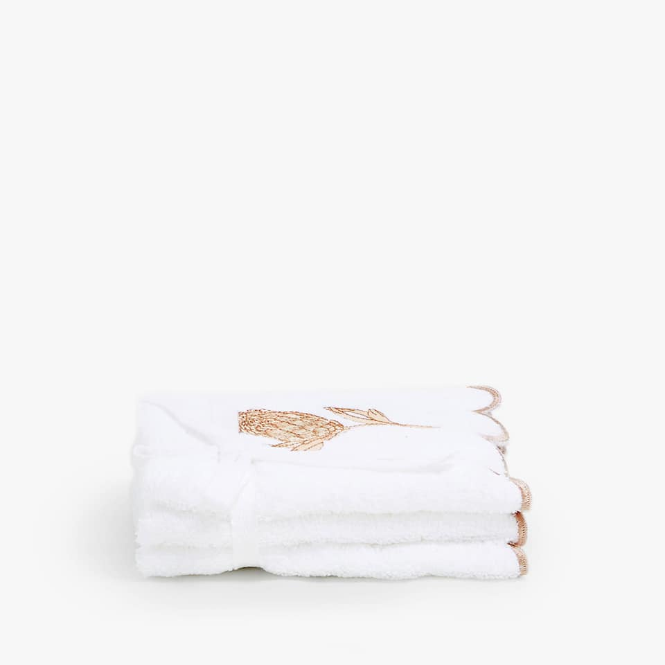 COTTON TOWEL WITH FLORAL EMBROIDERY (SET OF 3)