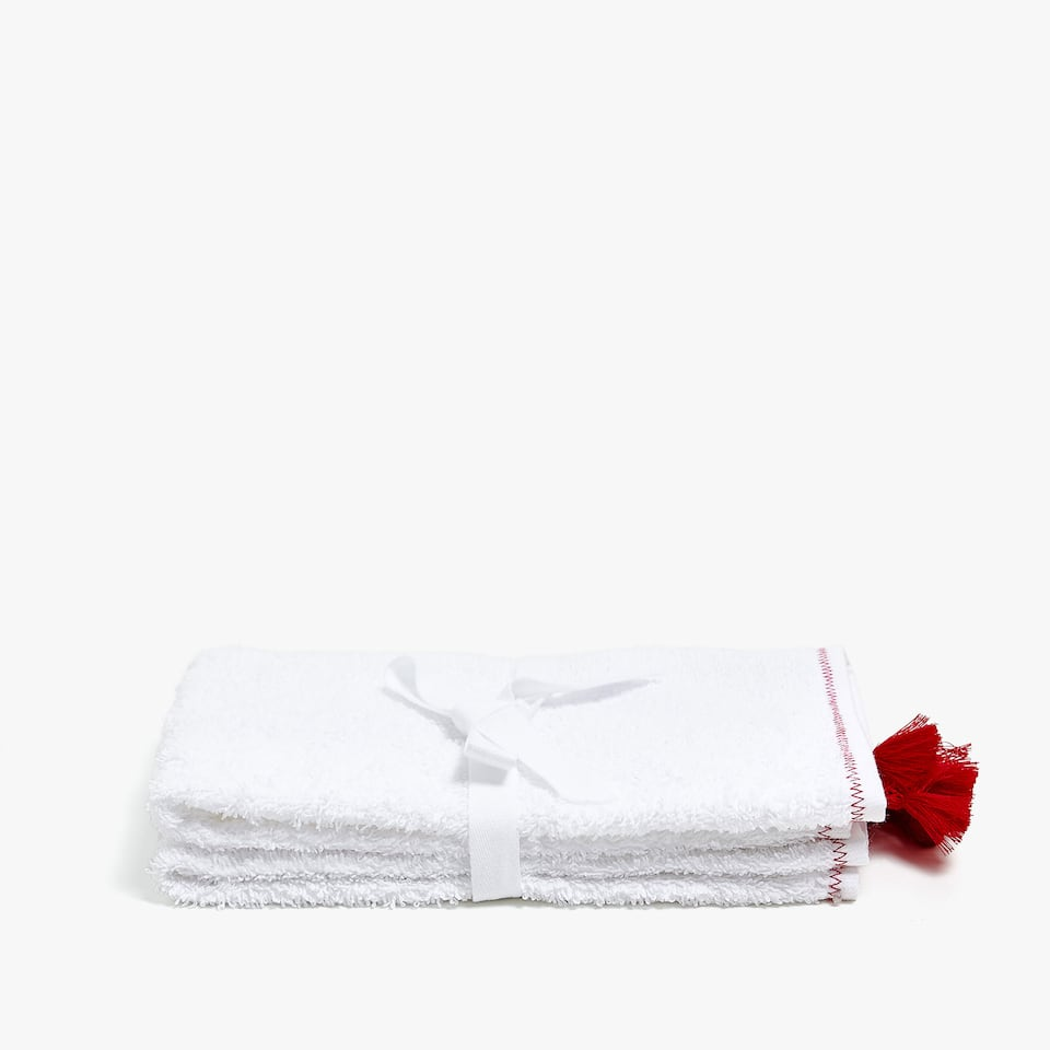 COTTON TOWEL WITH TASSEL DETAIL (SET OF 2)