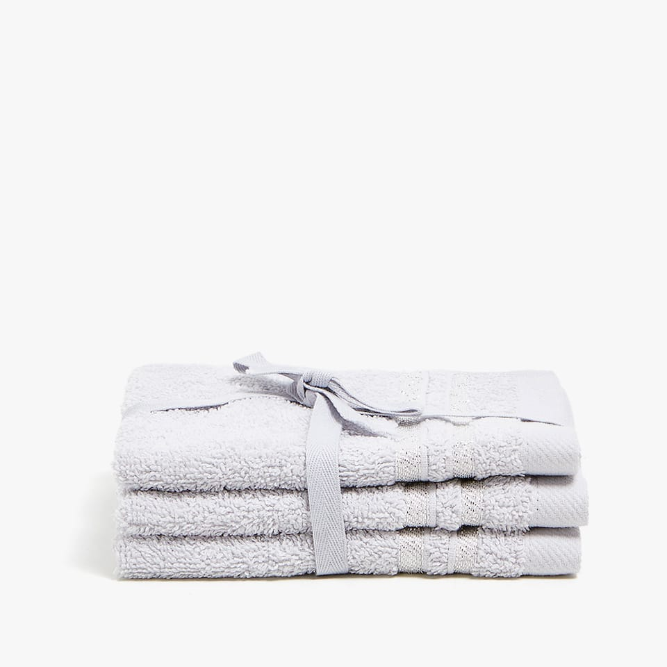 COTTON TOWEL WITH STRIPE BAND (SET OF 3)