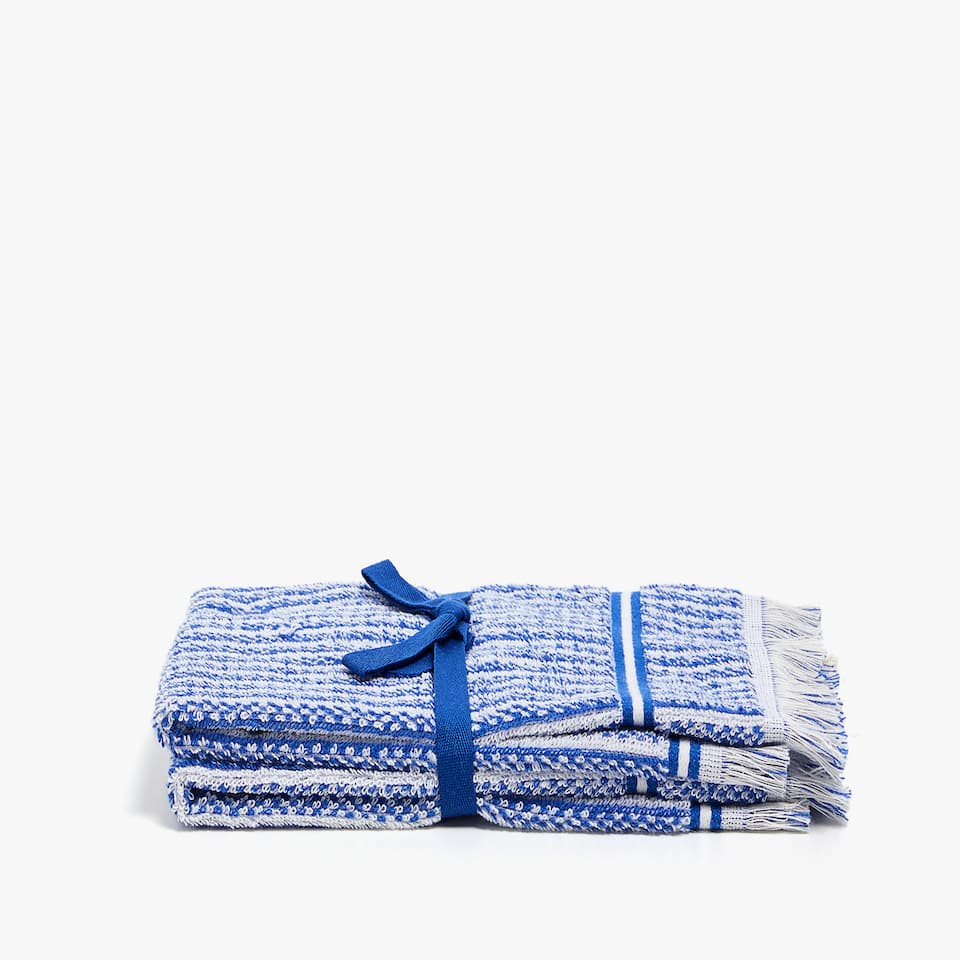 STRIPED COTTON TOWEL (SET OF 2)