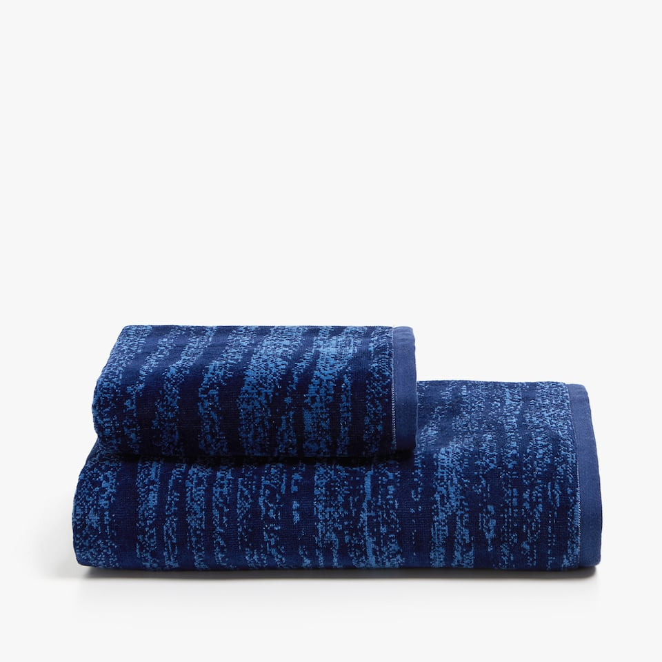 MELANGE-EFFECT COTTON TOWEL