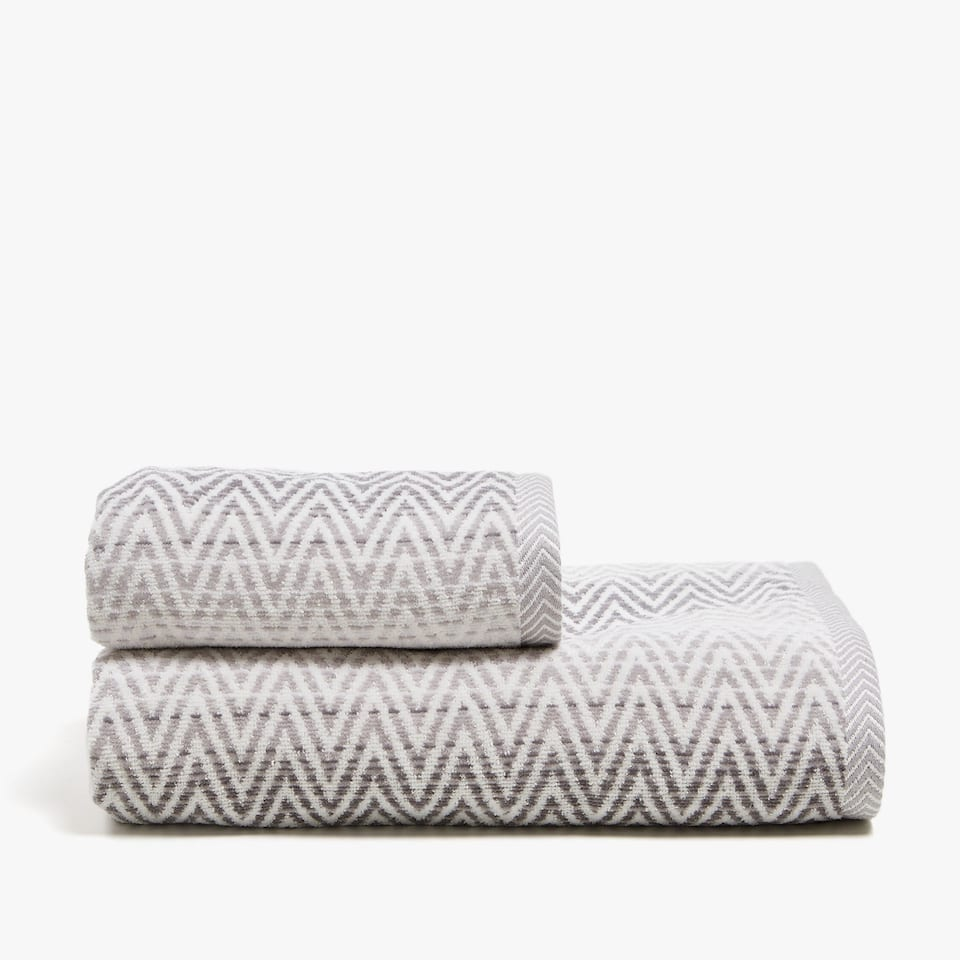 ZIGZAG COTTON TOWEL