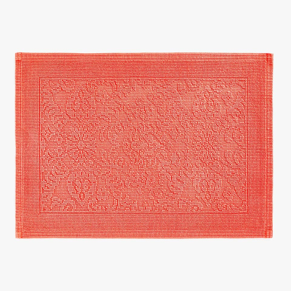 COTTON JACQUARD BATH MAT