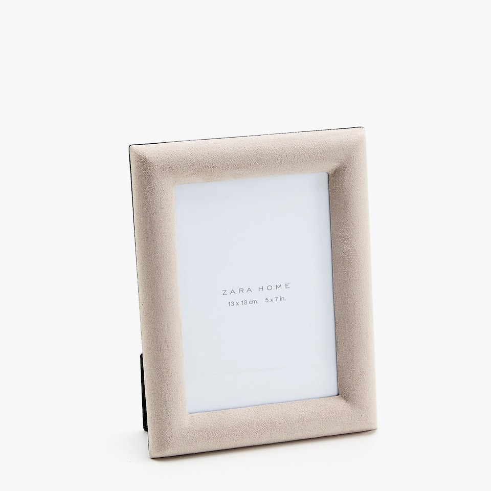 FAUX SUEDE FRAME