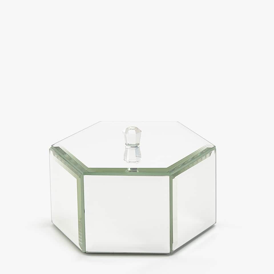 HEXAGONAL MIRRORED BOX