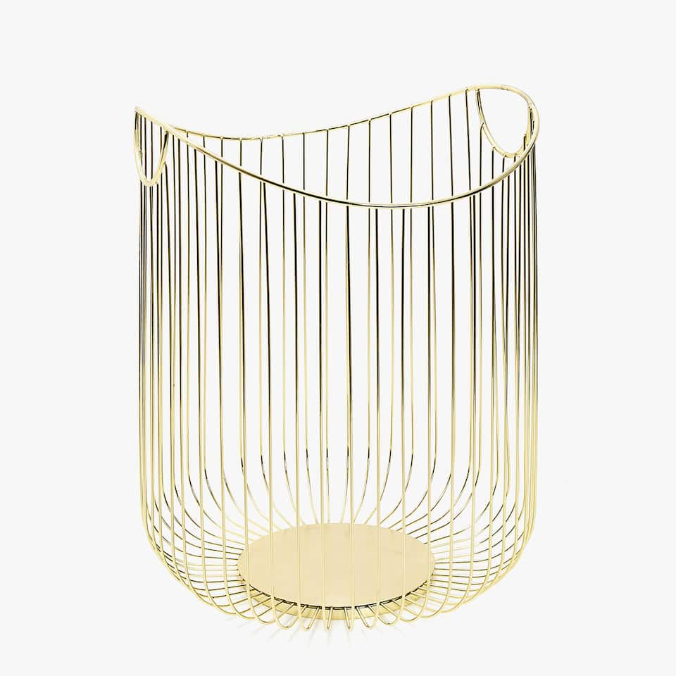 TALL METAL BASKET