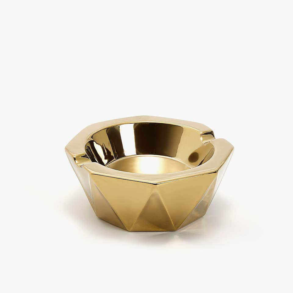 GOLDEN GEOMETRIC ASHTRAY