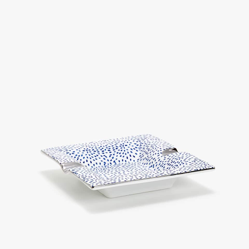 DOTTED TRANSFER ASHTRAY