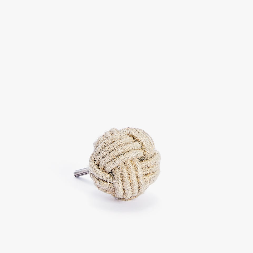 KNOTTED CORD DOOR KNOB (SET OF 2)