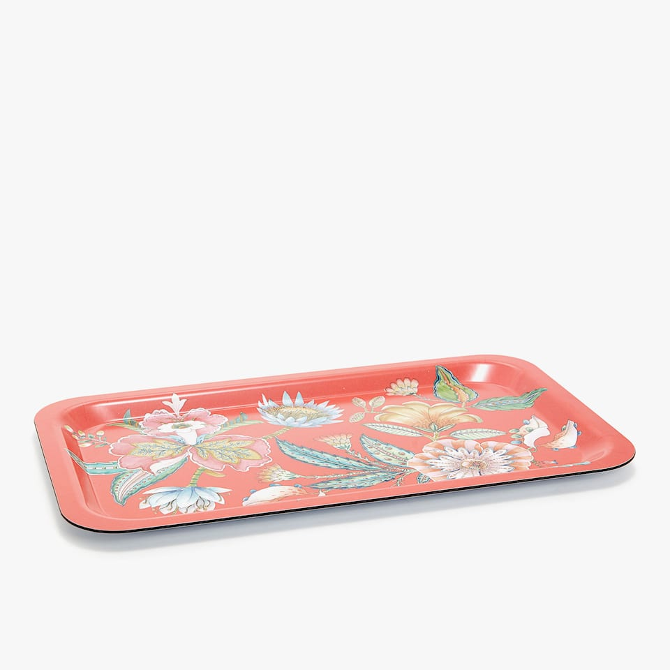 SQUARE FLORAL PRINT TRAY