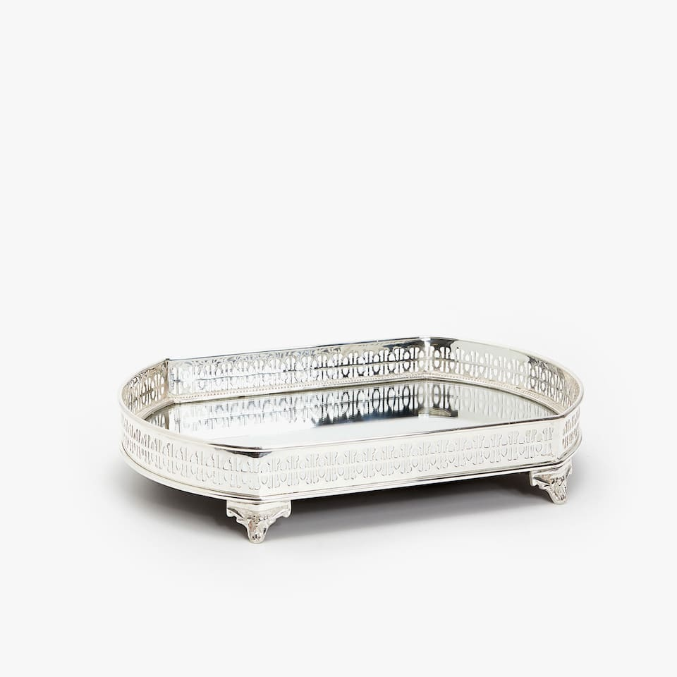 OVAL MIRRORED TRAY